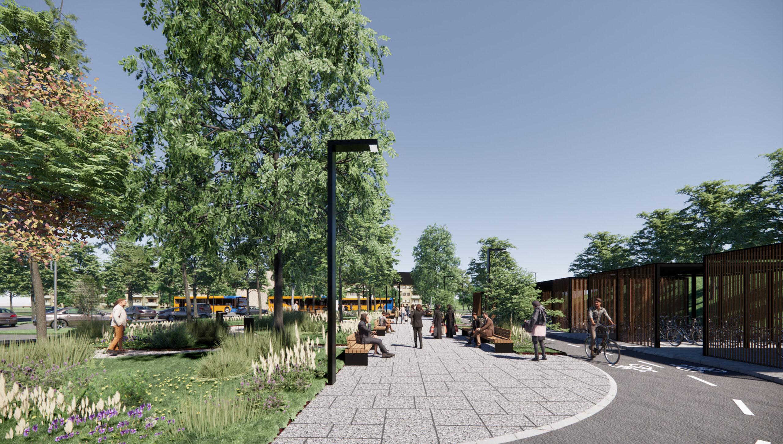 +Way for linje 500S er et tværfagligt projekt om, hvordan man forener busfremkommelighed, byrum og byudvikling.